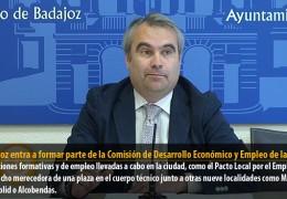 Badajoz entra a formar parte de la Comisión de Desarrollo Económico y Empleo de la FEMP