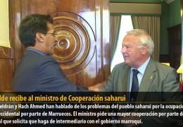 El alcalde recibe al ministro de Cooperación saharui