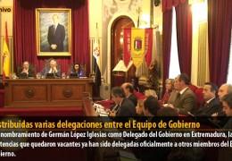 Redistribuidas varias delegaciones entre el Equipo de Gobierno