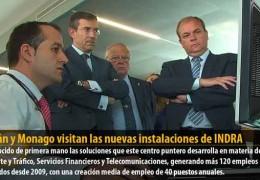 Celdrán y Monago visitan las nuevas instalaciones de INDRA