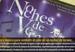 Teatro y música para combatir el calor de las noches de verano