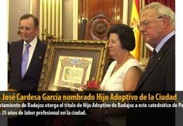Juan José Cardesa García nombrado Hijo Adoptivo de la Ciudad