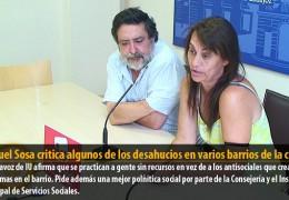 Manuel Sosa critica algunos de los desahucios en varios barrios de la ciudad