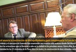 Del Moral anuncia la construcción de diez apartamentos para complementar la Casa de la Mujer