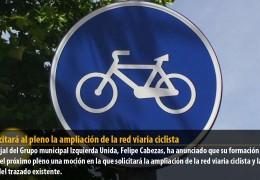 IU solicitará al pleno una ampliación de la red viaria ciclista