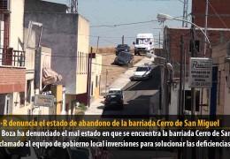 El GMS-R denuncia el estado de abandono de la barriada Cerro de San Miguel