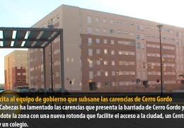 IU solicita al equipo de gobierno que subsane las carencias de Cerro Gordo
