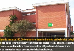 El consistorio invierte 350.000 euros en el mantenimiento estival de los colegios
