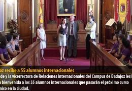 Badajoz recibe a 55 alumnos internacionales
