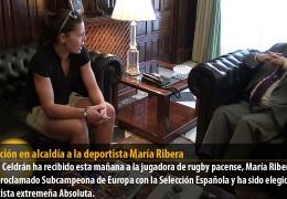 Recepción en alcaldía a la deportista María Ribera