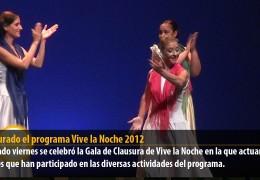 Clausurado el programa Vive la Noche 2012