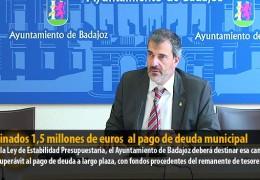 Destinados 1,5 millones de euros  al pago de deuda municipal