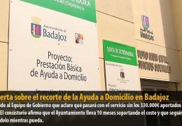 IU alerta sobre el recorte de la Ayuda a Domicilio en Badajoz