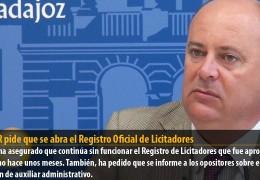 GMS-R pide que se abra el Registro Oficial de Licitadores