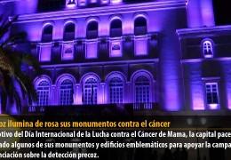 Badajoz ilumina de rosa sus monumentos contra el cáncer