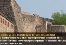 Salen a concurso las obras de rehabilitación del Fuerte de San Cristóbal