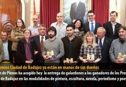 Los Premios Ciudad de Badajoz ya están en manos de sus dueños