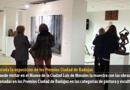 Inaugurada la exposición de los Premios Ciudad de Badajoz