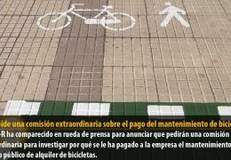 PSOE pide una comisión extraordinaria sobre el pago del mantenimiento de bicicletas