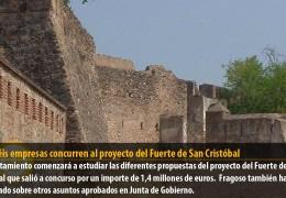 Dieciséis empresas concurren al proyecto del Fuerte de San Cristóbal