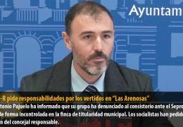 """El GMS-R pide responsabilidades por los vertidos en """"Las Arenosas"""""""