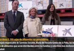 La Caixa dona 3.200 cajas de alimentos no perecederos