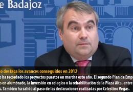 Fragoso destaca los avances conseguidos en 2012