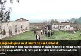 Catas arqueológicas en el Fuerte de San Cristobal