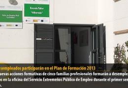 144 desempleados participarán en el Plan de formación 2013