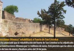 """""""Construcciones Olivenza"""" rehabilitará el Fuerte de San Cristóbal"""