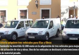 El Consistorio adquiere tres vehículos para Vías y Obras
