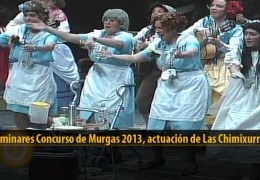 Actuación  de Las Chimixurris (Preliminares 2013)