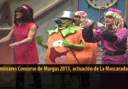 Actuación  de La Mascarada (Preliminares 2013)