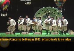 Actuación  de Yo no salgo (Preliminares 2013)