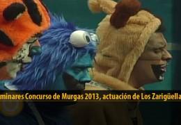 Actuación  de Los Zarigüellas (Preliminares 2013)