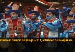 Actuación  de Dakipakasa (Preliminares 2013)