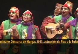 Actuación  de Pixa a la Fulaneska (Preliminares 2013)