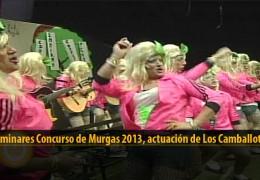 Actuación  de Los Camballotas (Preliminares 2013)