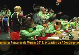 Actuación  de A Contragolpe (Preliminares 2013)