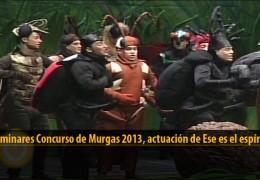 Actuación  de Ese es el espíritu (Preliminares 2013)