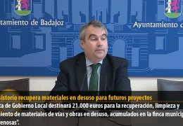 El Consistorio recupera materiales en desuso para futuros proyectos