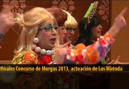 Actuación  de Los Mirinda (Semifinales 2013)