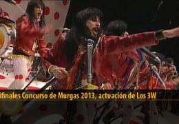 Actuación  de Los 3W (Semifinales 2013)