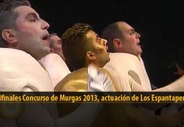 Actuación  de Los Espantaperros (Semifinales 2013)