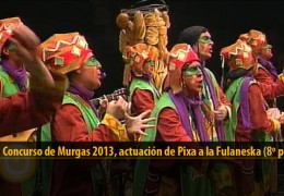 Actuación de Pixa a la Fulaneska (8º puesto Final 2013)