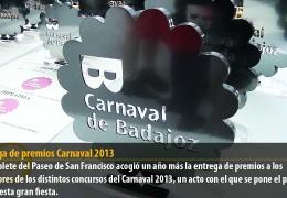 Entrega de premios Carnaval 2013