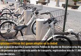 Los desplazamientos en bici ganan adeptos en la ciudad