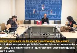 IU denuncia irregularidades en las oposiciones a laborales y funcionarios