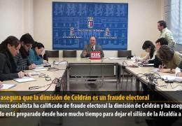Vegas asegura que la dimisión de Celdrán es un fraude electoral