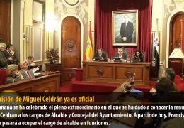 La dimisión de Miguel Celdrán ya es oficial